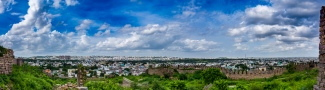 Panoramic view of the city Hyderabad from the Fort
